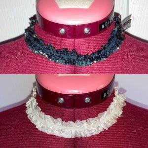 Set of 2 lace chokers - Free w/$15 purchase